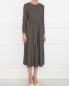 Платье из вискозы с узором Weekend Max Mara  –  МодельВерхНиз
