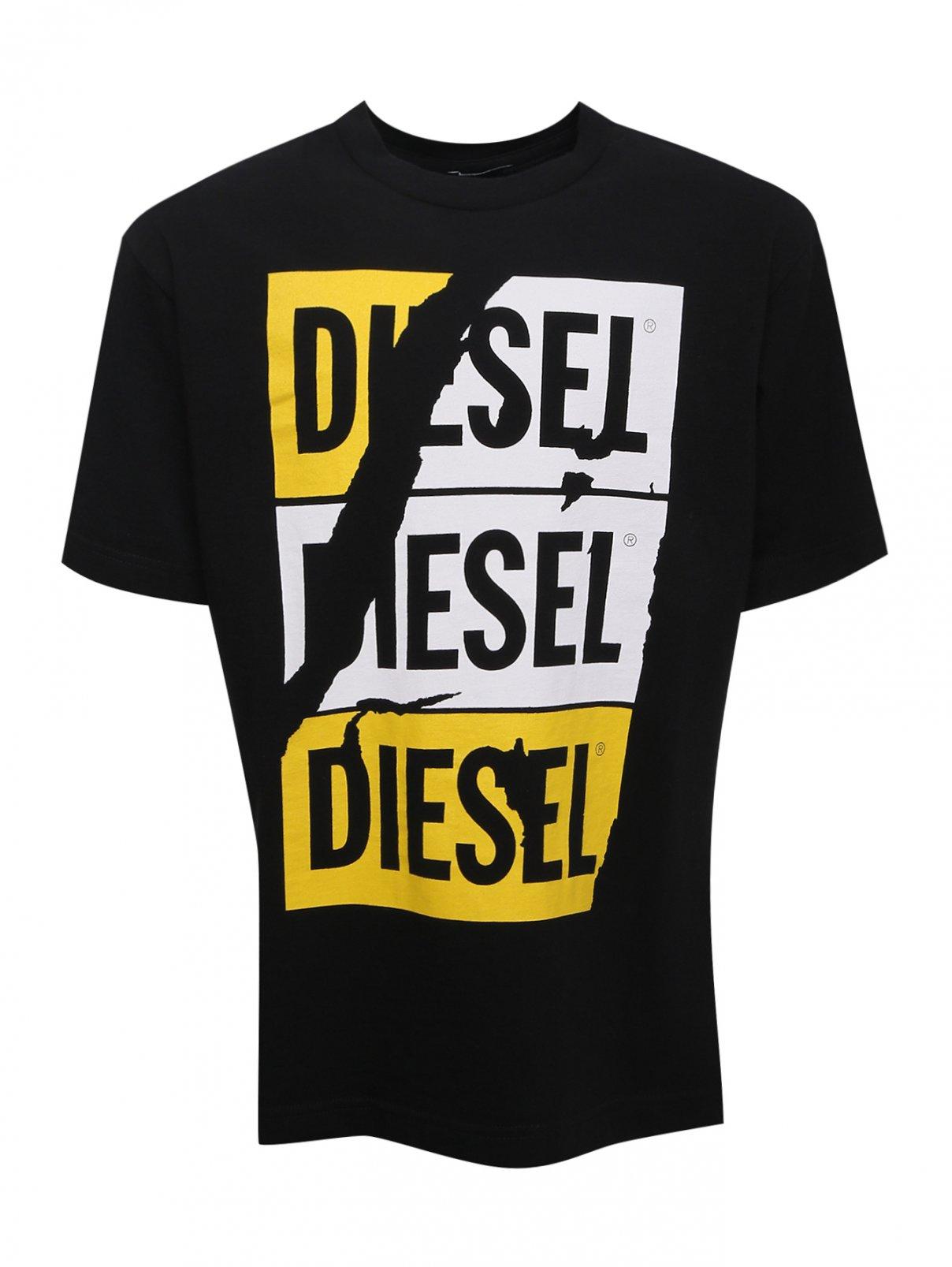 Футболка хлопковая с принтом Diesel  –  Общий вид