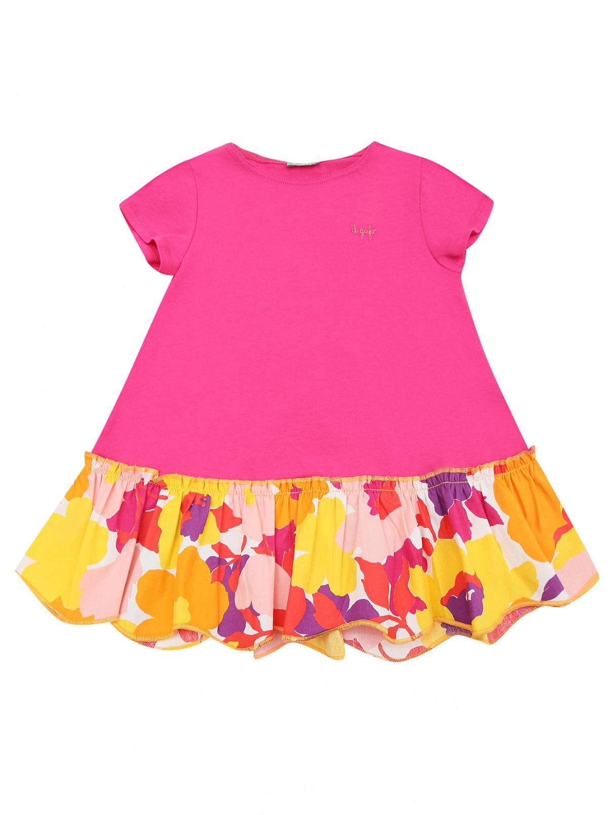 Платье из хлопка с оборкой Il Gufo  –  Общий вид