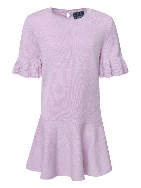 Платье из шерсти с воланом - Общий вид