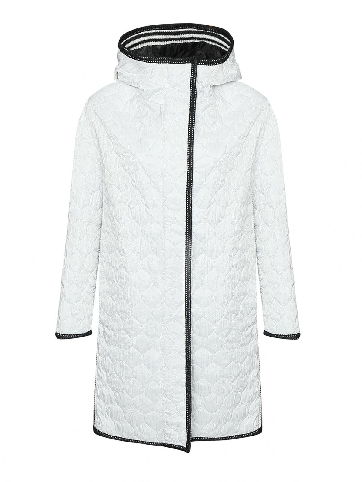 Пальто стеганое с капюшоном Ermanno Scervino  –  Общий вид
