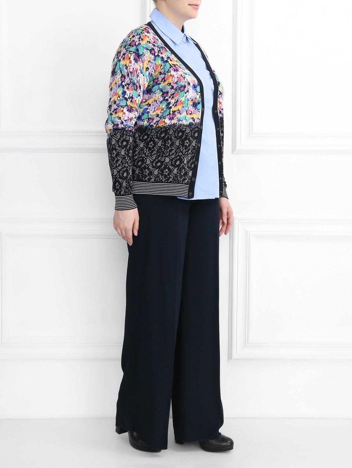 Кардиган с длинными рукавами и узором Marina Rinaldi  –  Модель Общий вид