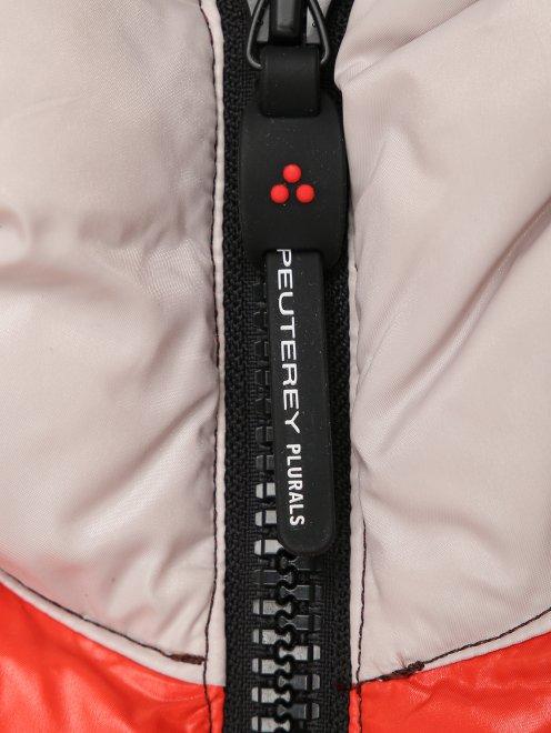 Стеганая куртка с капюшоном - Деталь