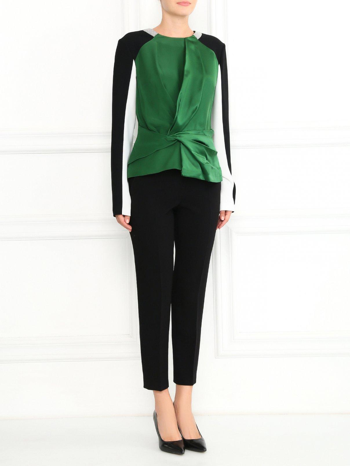 Узкие укороченные классические брюки Moschino Cheap&Chic  –  Модель Общий вид