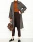 Двубортное пальто из шерсти с узором A.P.C.  –  МодельОбщийВид