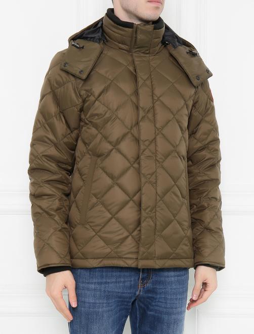 Куртка стеганая с капюшоном Canada Goose - МодельВерхНиз