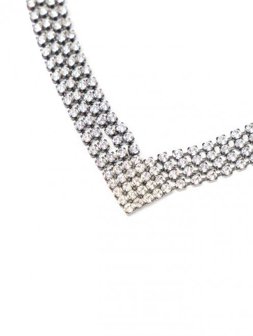 Тиара из металла декорированная кристаллами - Деталь