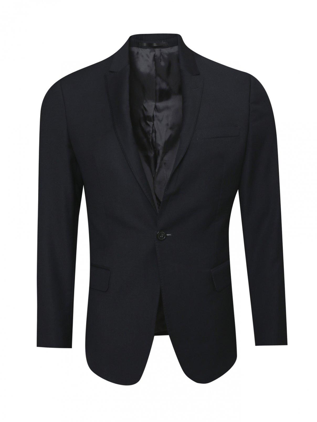 Пиджак однобортный из шерсти Emporio Armani  –  Общий вид