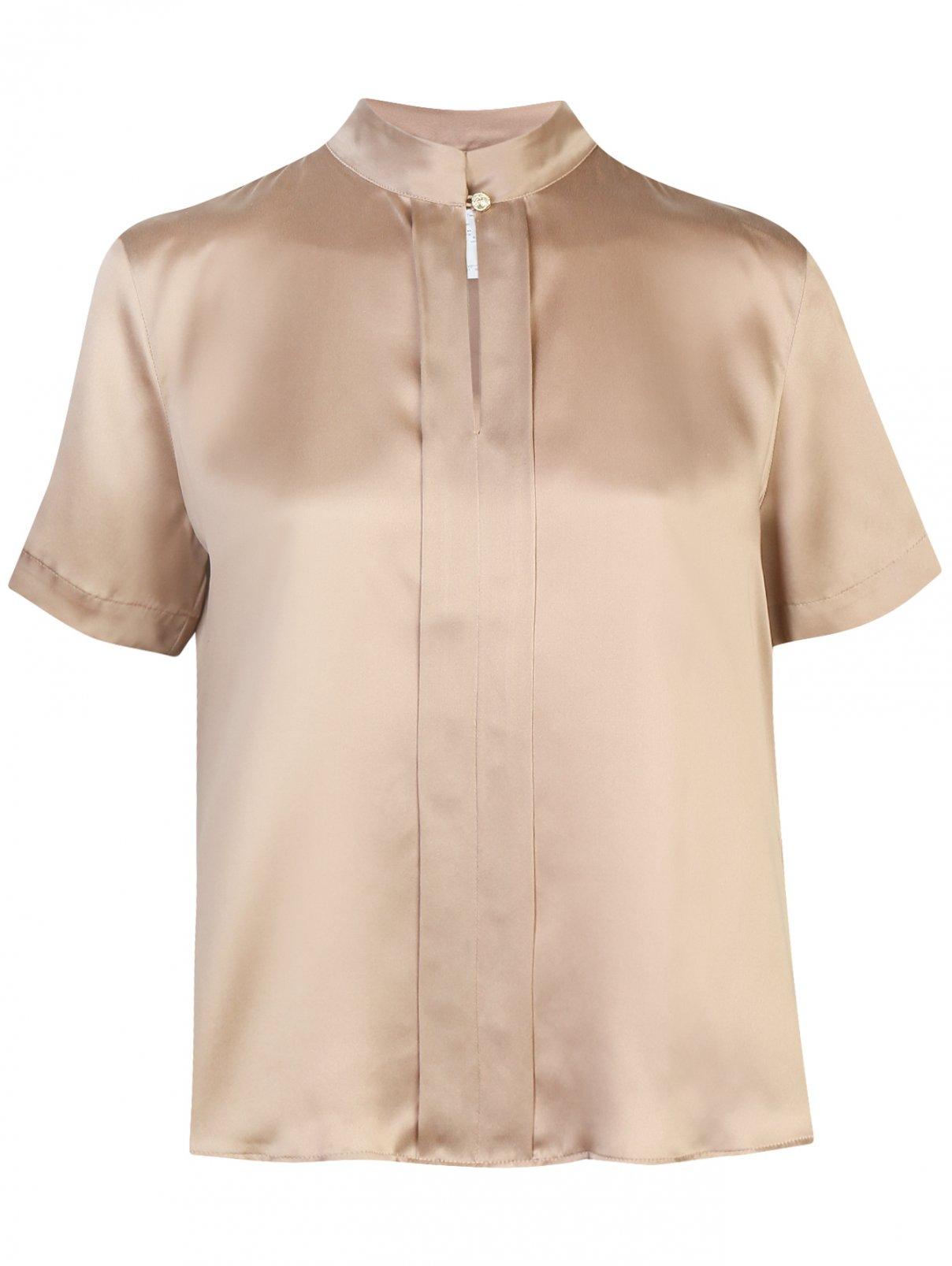 Блуза из шелка с короткими рукавами Marina Rinaldi  –  Общий вид