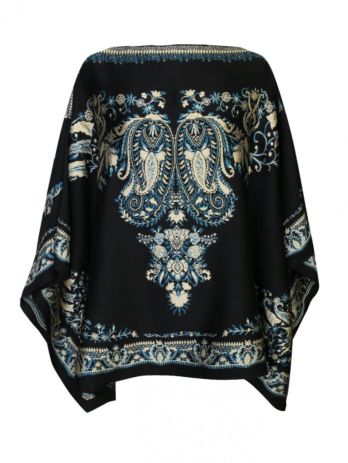 Пончо из шерсти с цветочной вышивкой Etro  –  Общий вид