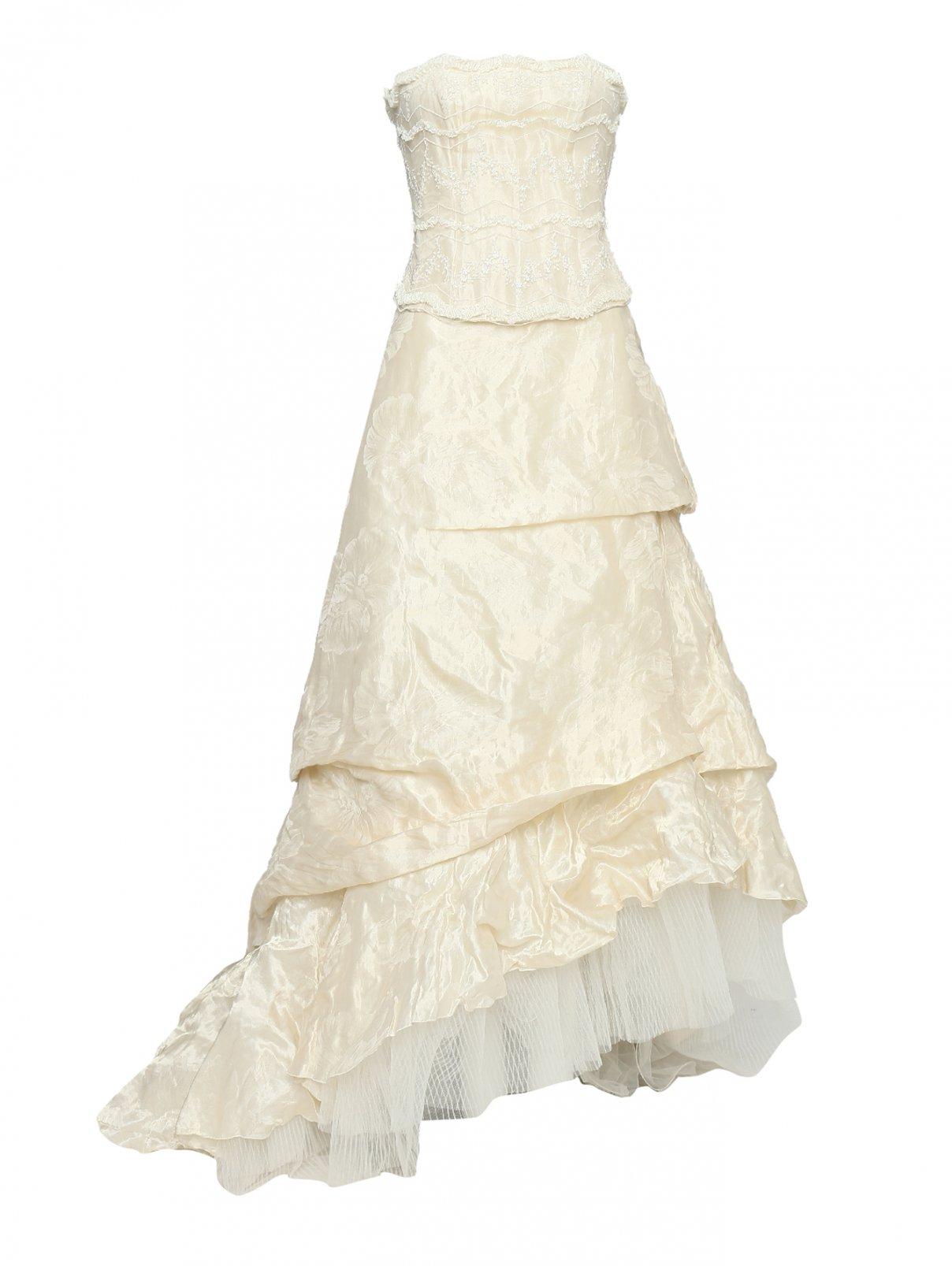 Вечерний комплект из  пышной юбки  и корсета Mariella Burani  –  Общий вид