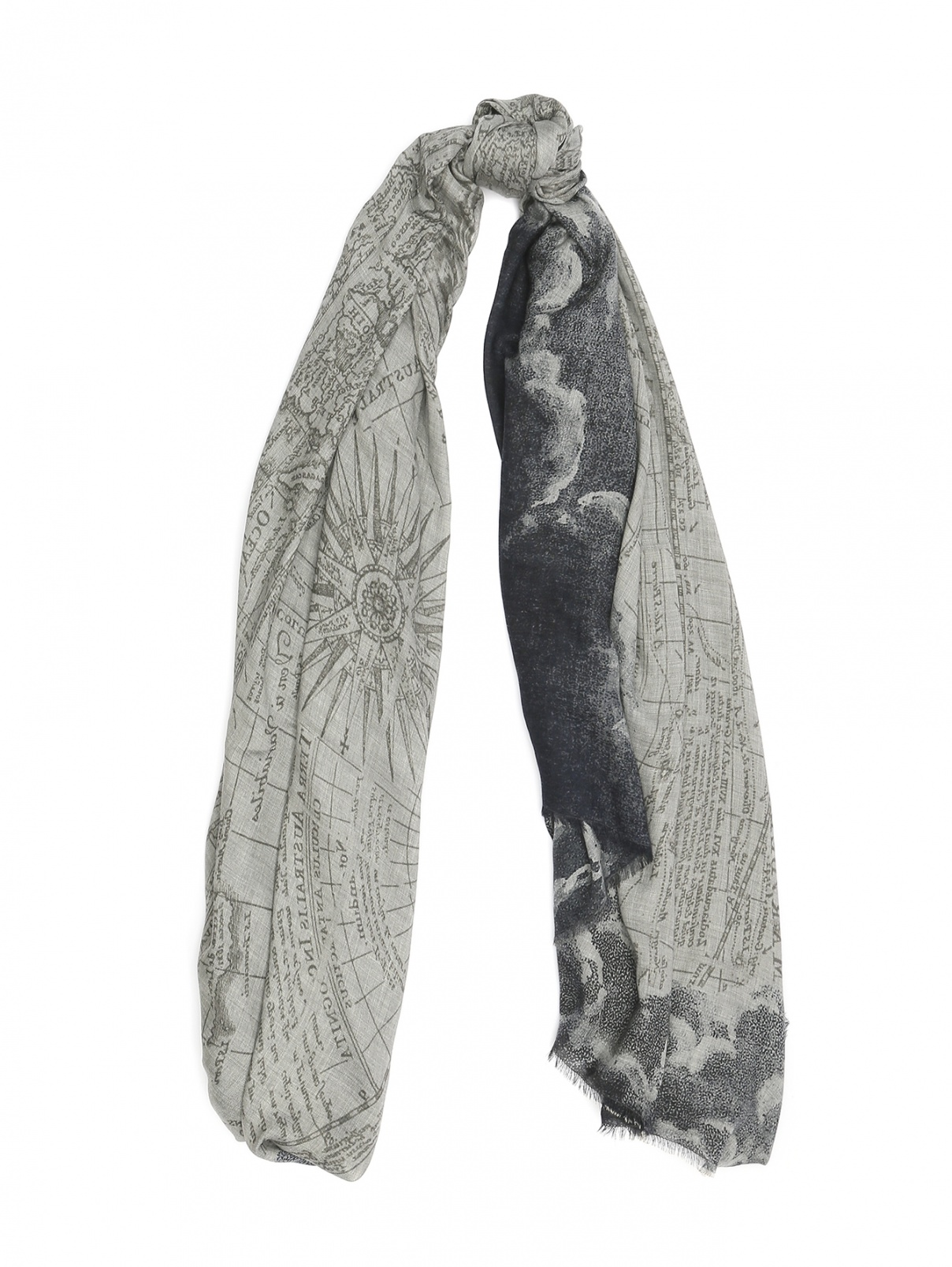 Шарф из модала с узором Faliero Sarti  –  Общий вид