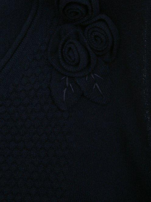 Жилет из шерсти и кашемира с декором - Деталь