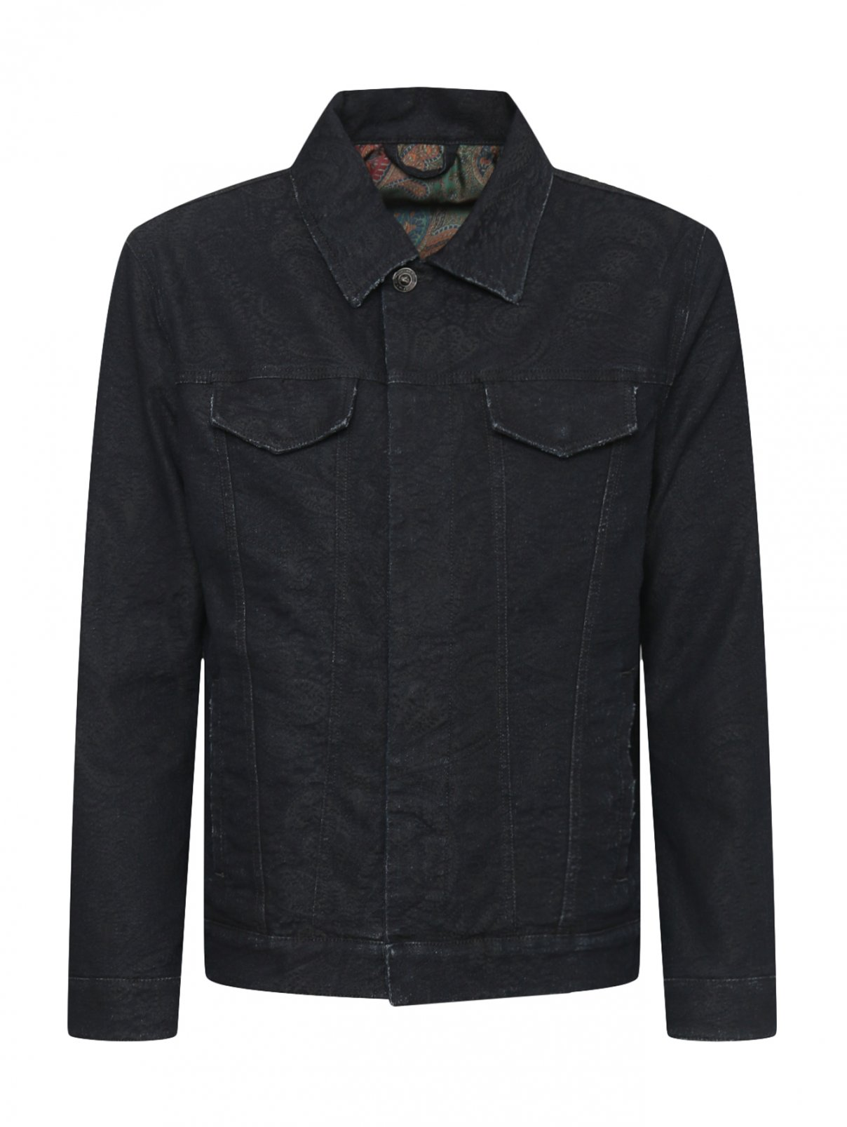 Джинсовая куртка из фактурного хлопка Etro  –  Общий вид