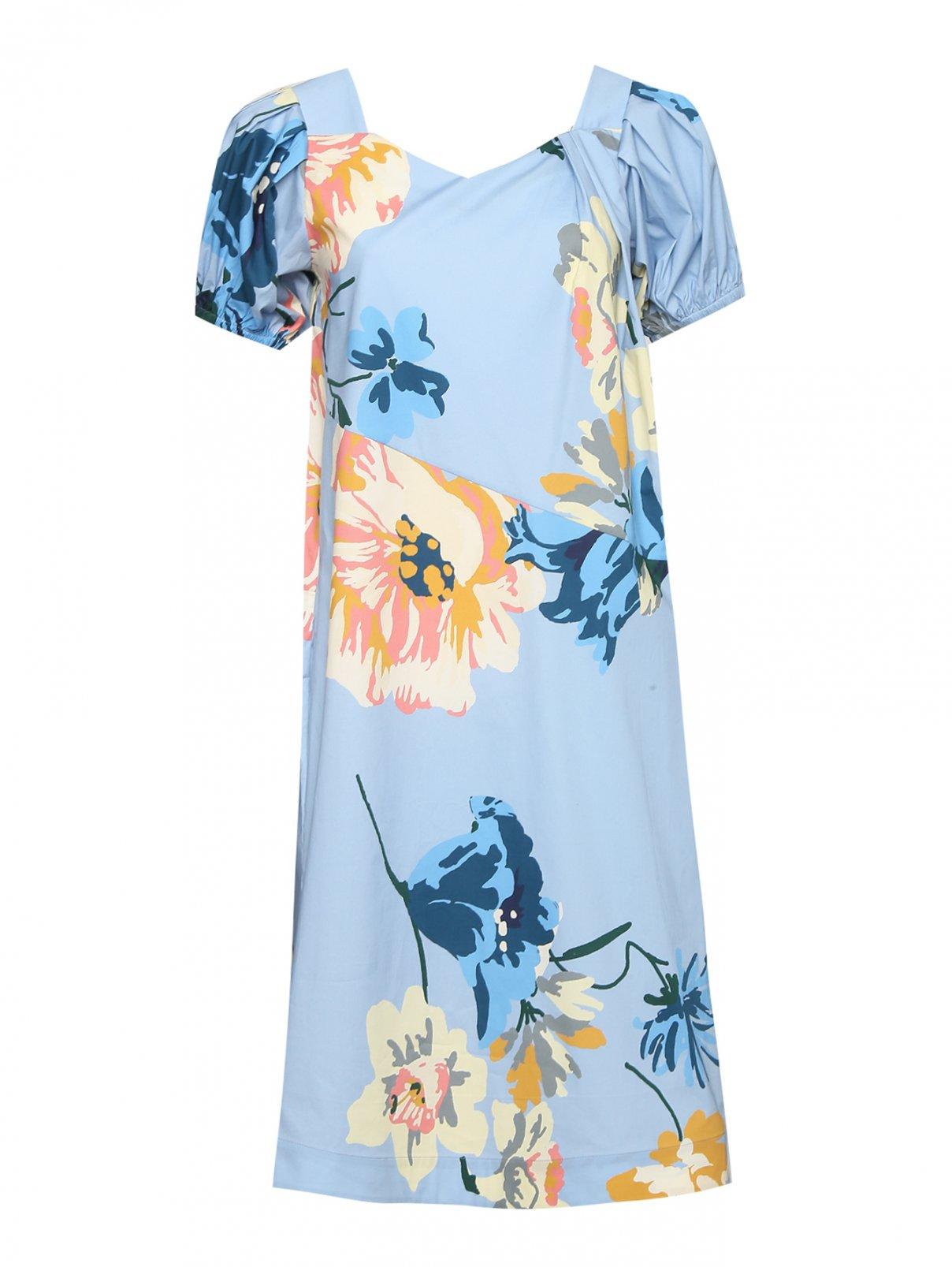 Платье-миди из хлопка с узором Antonio Marras  –  Общий вид