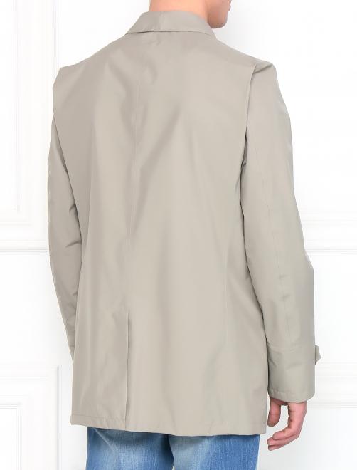 Плащ однобортный с боковыми карманами - Модель Верх-Низ1