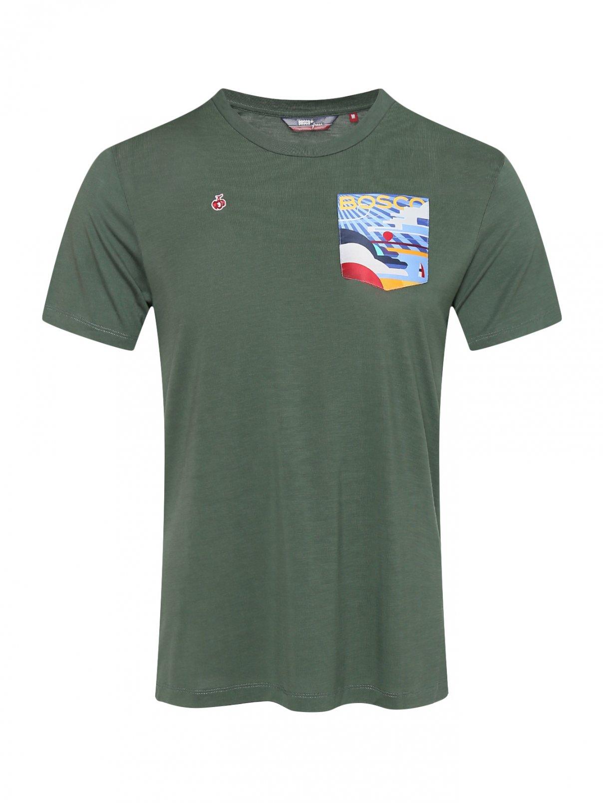 Трикотажная футболка с накладным карманом с логотипом Bosco Fresh  –  Общий вид