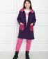 Пальто на пуговицах с накладными карманами Aletta  –  МодельОбщийВид