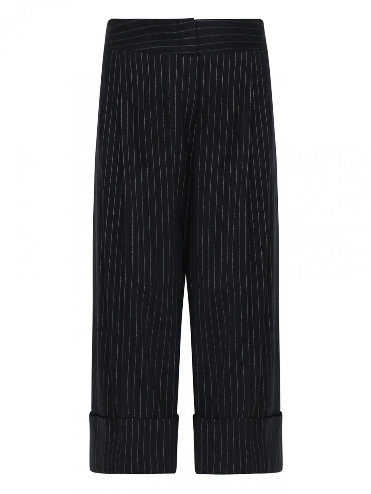 Укороченные брюки из шерсти с узором полоска Antonio Marras  –  Общий вид