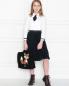 Юбка плиссированная из смессовой шерсти Aletta Couture  –  МодельОбщийВид