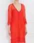Платье-мини из шелка с вышивкой Alberta Ferretti  –  Модель Верх-Низ