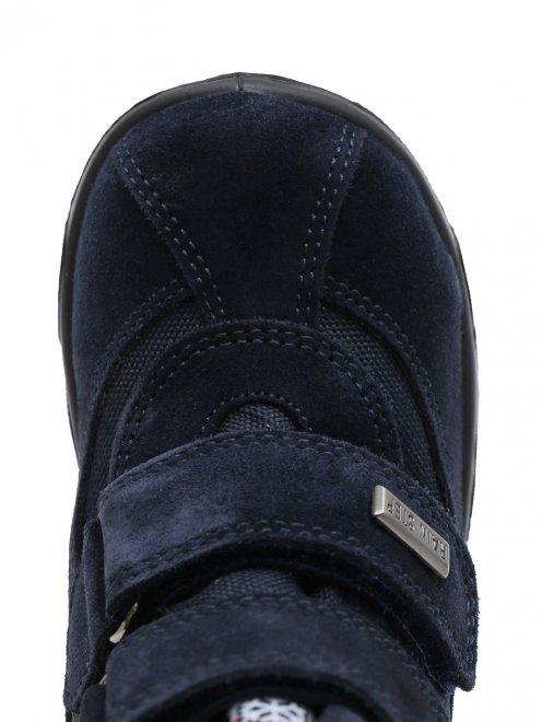Ботинки из текстиля и кожи с липкими застежками - Обтравка3