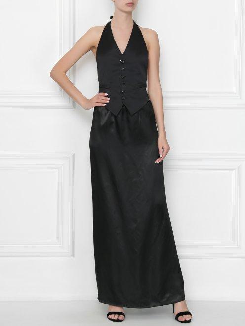 Платье-макси из вискозы MM6 - Общий вид