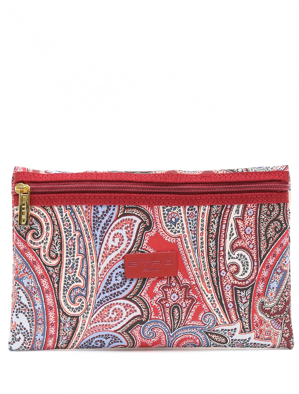 Косметичка из текстиля с узором пейсли Etro  –  Общий вид
