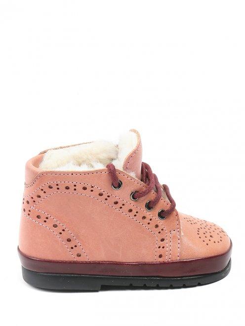 Ботинки из кожи с перфорацией - Общий вид