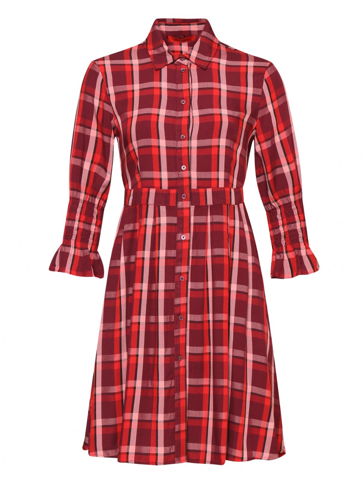 Платье из ткани в клетку на пуговицах Max&Co  –  Общий вид