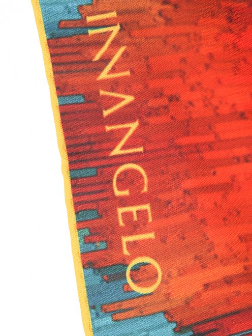 Платок из шелка с узором Innangelo - Деталь
