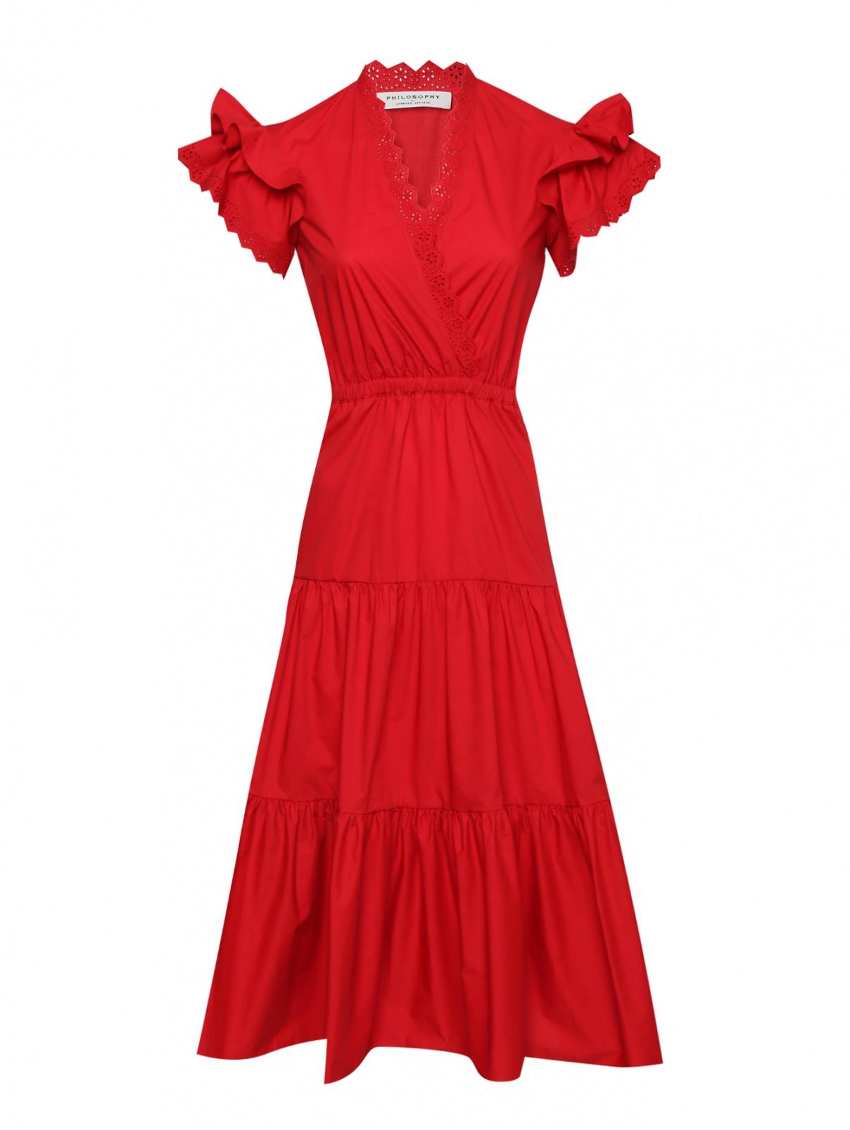 Платье-миди из хлопка с короткими рукавами Philosophy Di Lorenzo Serafini  –  Общий вид
