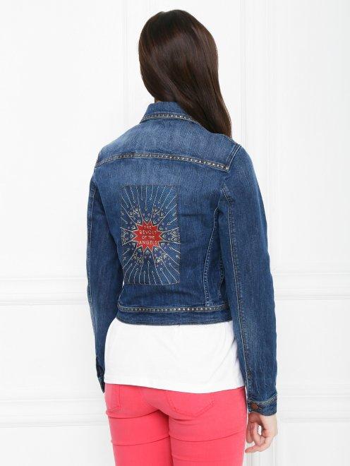 Куртка из денима с декором на спинке - МодельВерхНиз1