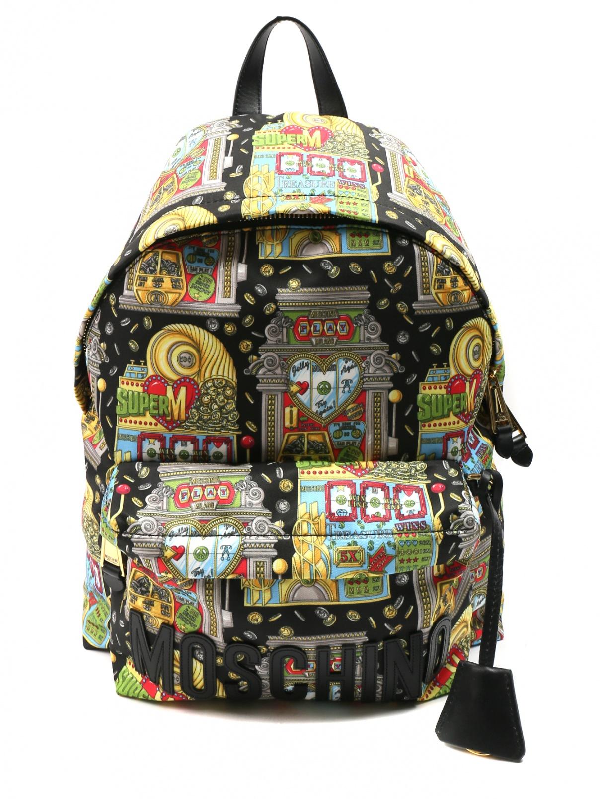 Рюкзак из текстиля с узором Moschino  –  Общий вид