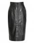 Юбка-миди из гладкой кожи Alberta Ferretti  –  Общий вид