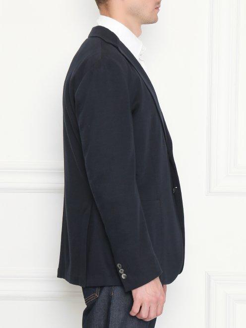 Пиджак трикотажный из хлопка - МодельВерхНиз2