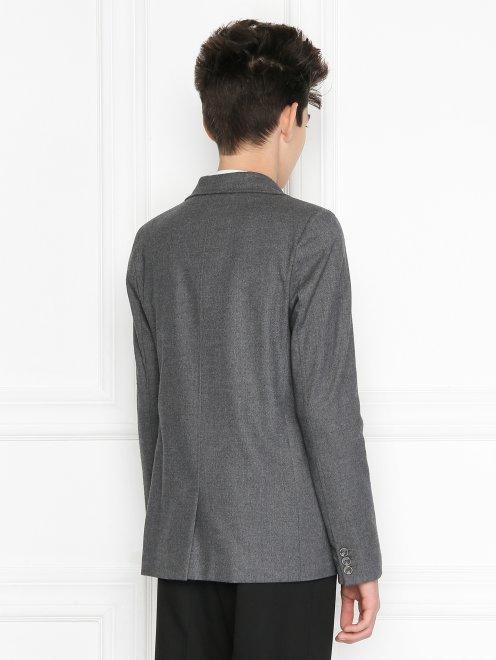 Пиджак из шерсти однобортный - МодельВерхНиз1
