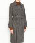 Двубортное пальто из шерсти с узором A.P.C.  –  МодельВерхНиз