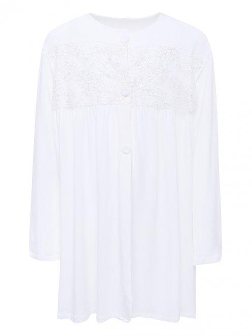 Сорочка трикотажная с кружевным декором La Perla - Общий вид