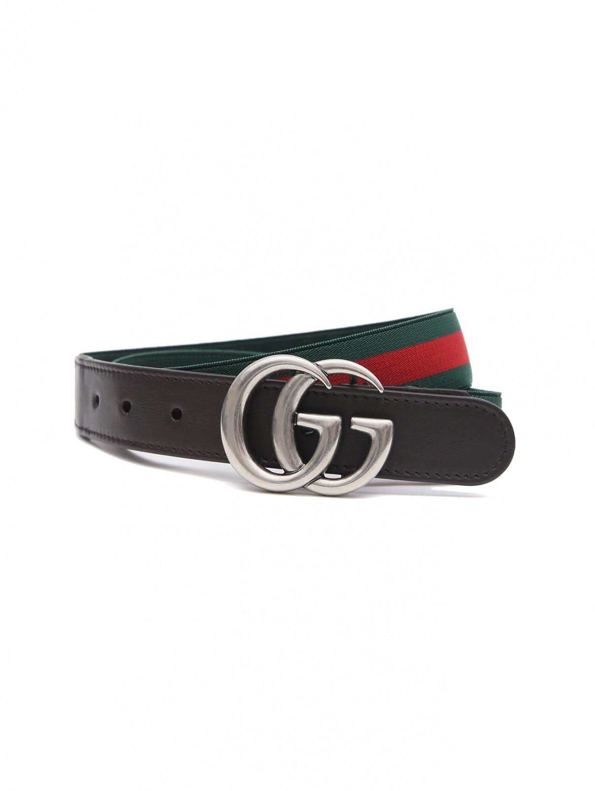 Ремень на резинке с металлической пряжкой Gucci  –  Общий вид