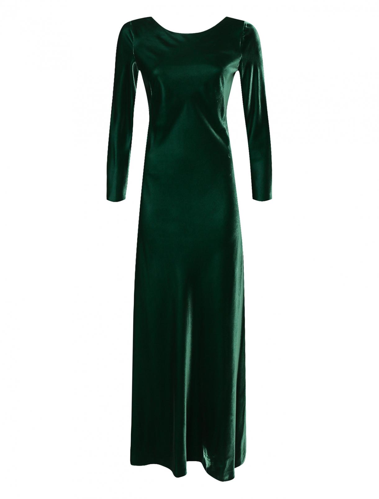 Платье-макси из бархата Alberta Ferretti  –  Общий вид