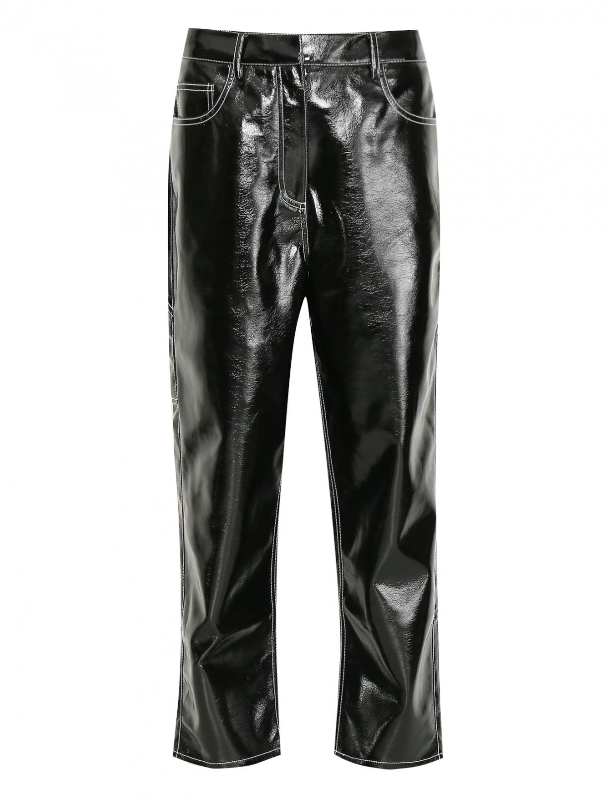 Укороченные брюки с контрастной отстрочкой TIBI  –  Общий вид