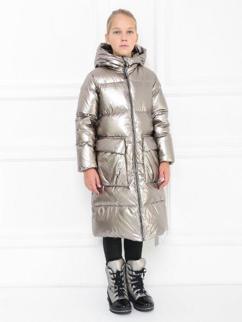 Куртка удлиненная на пуховом подкладе - МодельВерхНиз